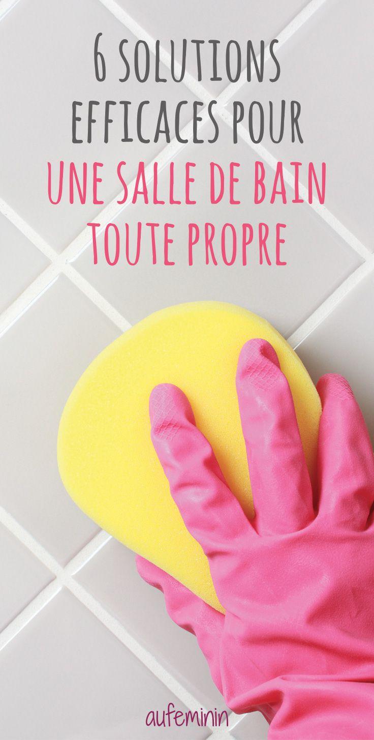 Nettoyer la salle de bain comment nettoyer ma salle de Astuce pour nettoyer les joints de salle de bain