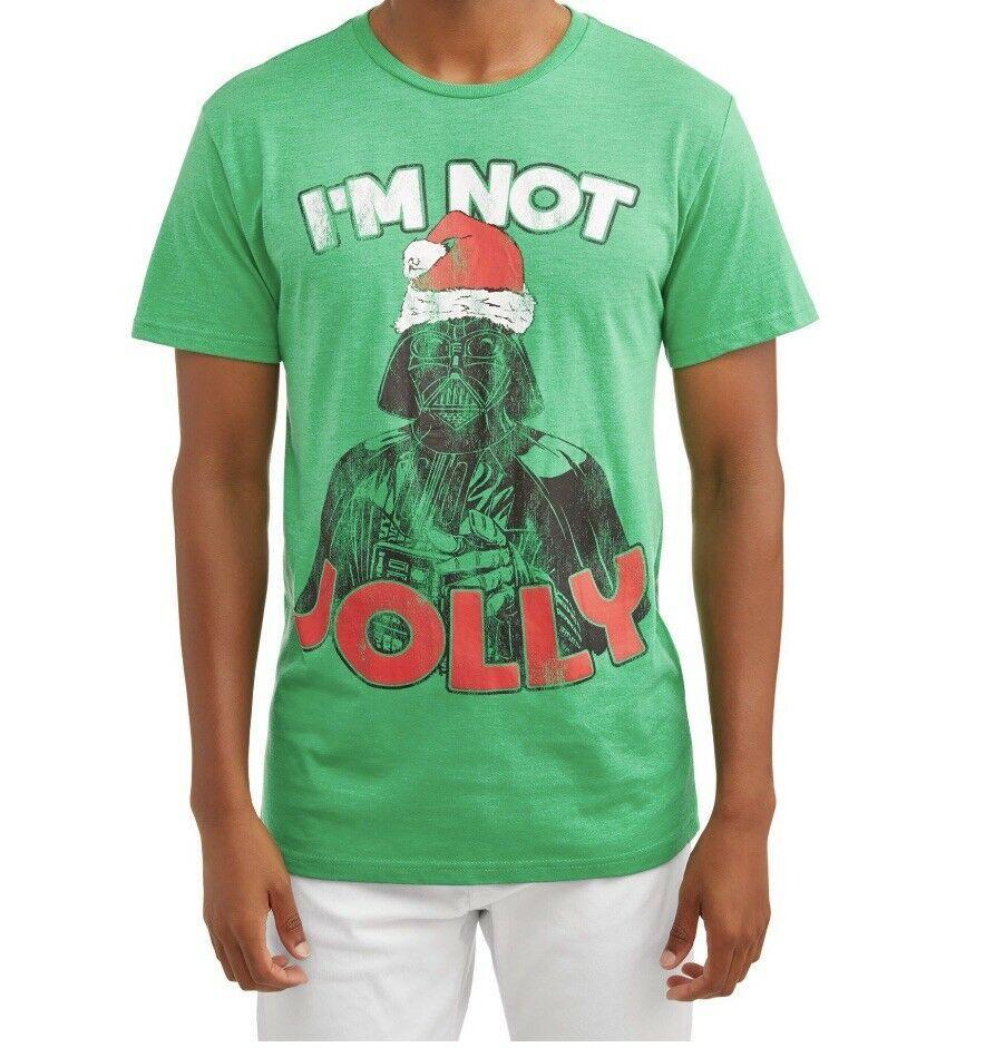 Star Wars Green Men S Darth Vader Santa Hat I M Not Jolly Christmas T Shirt New Ebay Star Wars Tshirt Christmas Tshirts Cat Shirts Funny [ 941 x 884 Pixel ]