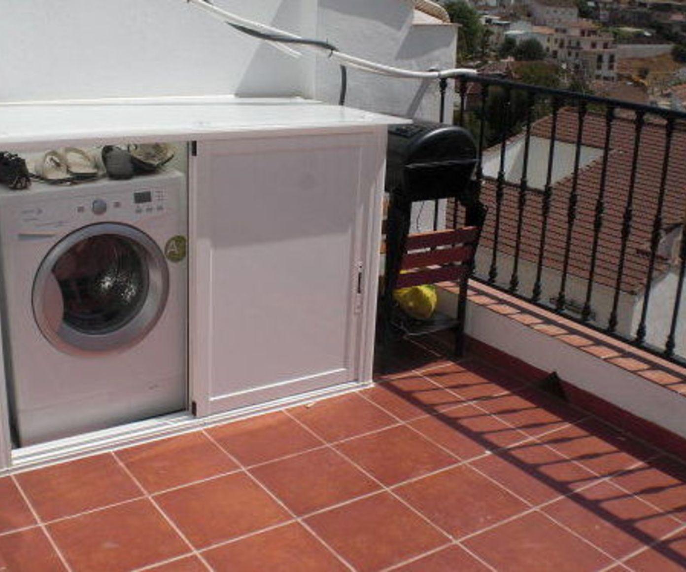 Armario exterior para lavadora o secadora productos y for Armarios para terrazas