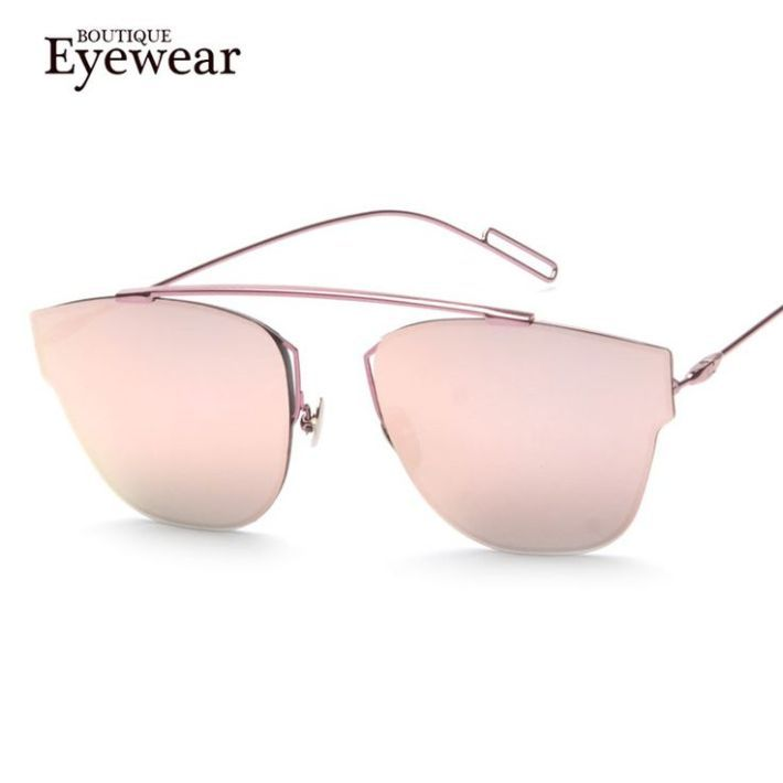 Tendance : Tendance lunettes : BOUTIQUE New Brand Design Women High Quality Cat Eye Sunglasses Fashion Rimless