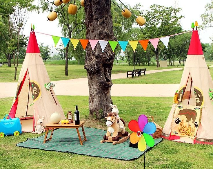 Indian Teepee Tent Indoor Outdoor Kids Children Wigwam Pretend Play Toy & Kids Indian Teepee Tent Indoor Outdoor Children Play Camping ...