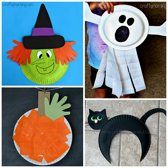 Paper Plate Halloween Crafts for Kids Cheap halloween