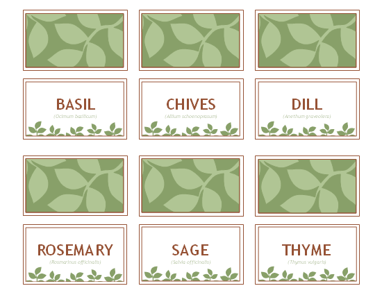 photo about Printable Plant Labels named 20 Imaginative Do-it-yourself Plant Labels Markers Backyard Yard
