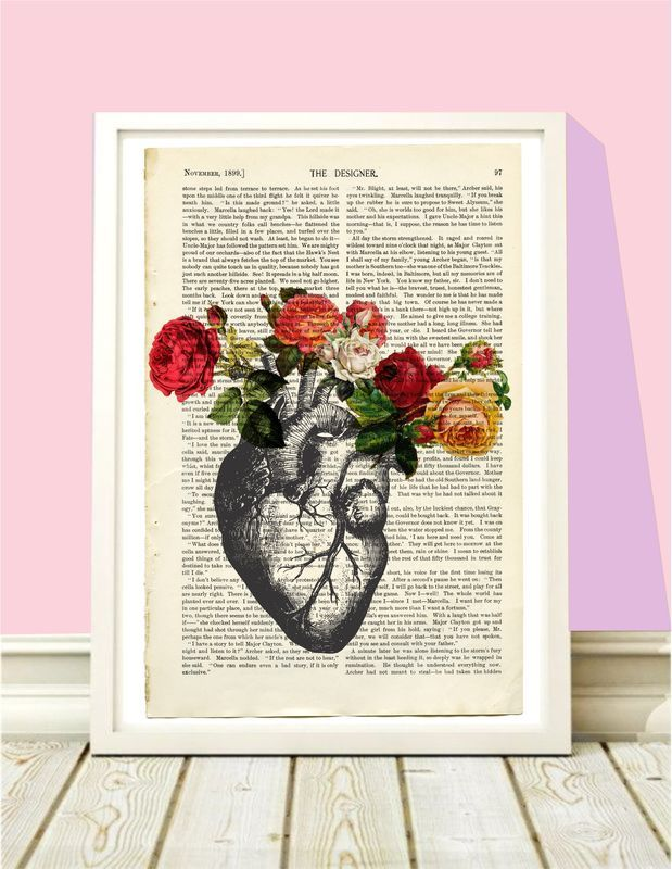 Confira aqui - Poster Heart Born flowers - Hey You
