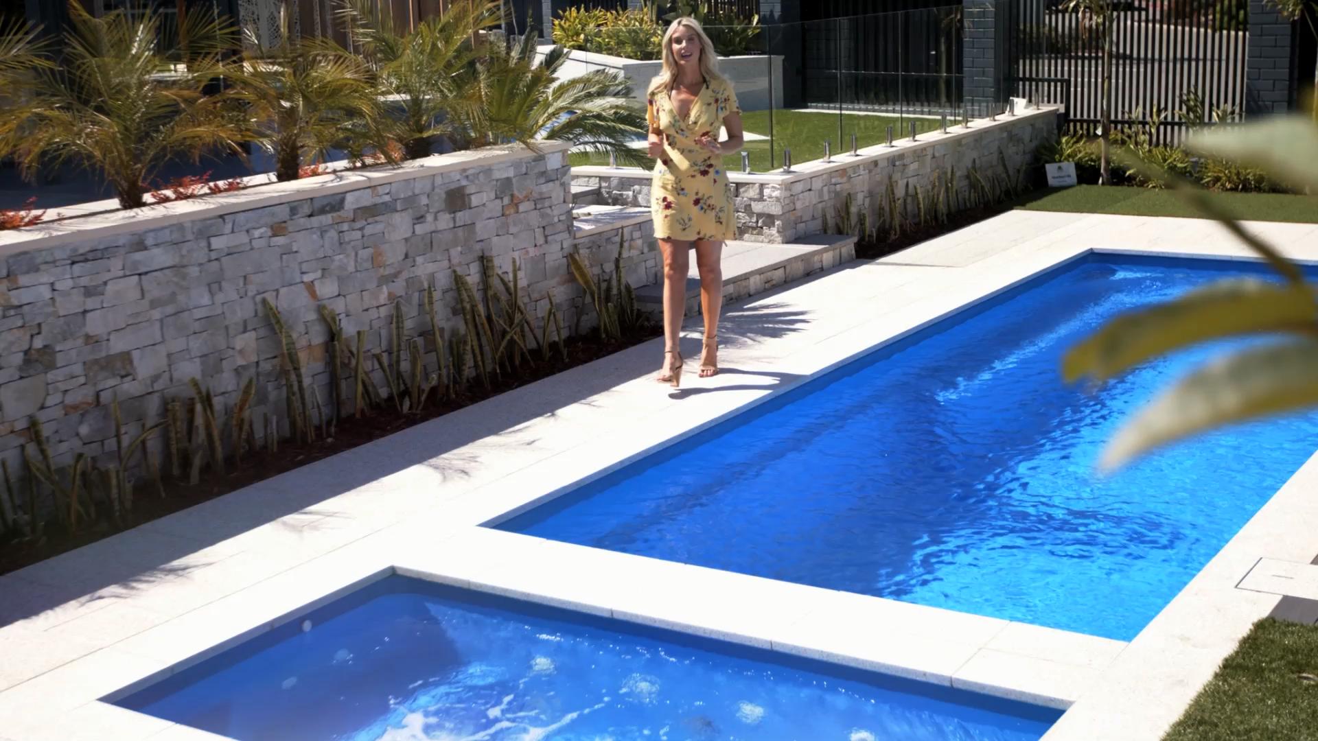 The Hamilton Spa Video Pool Landscape Design Barrier Reef Pools Pool