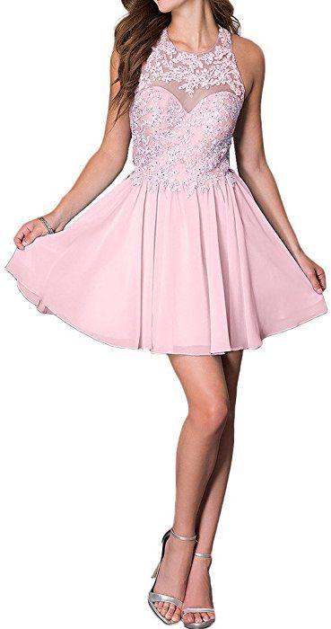 Promgirl House Damen Chic Hellblau Rosa Weiss A-Linie ...
