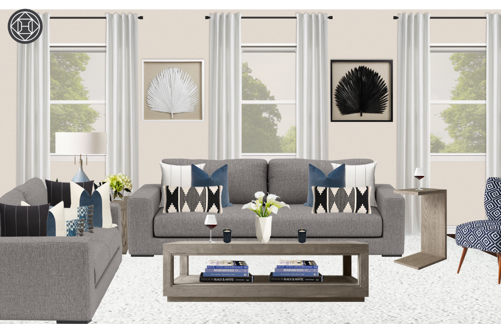 Contemporary, Midcentury Modern Living Room Design by Havenly Interior Designer Brady #havenlylivingroom Contemporary, Midcentury Modern Living Room Design by Havenly Interior Designer Brady #havenlylivingroom