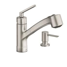 Moen Shaye Spot Resist Stainless 1-Handle Pull-Out Kitchen Faucet ...