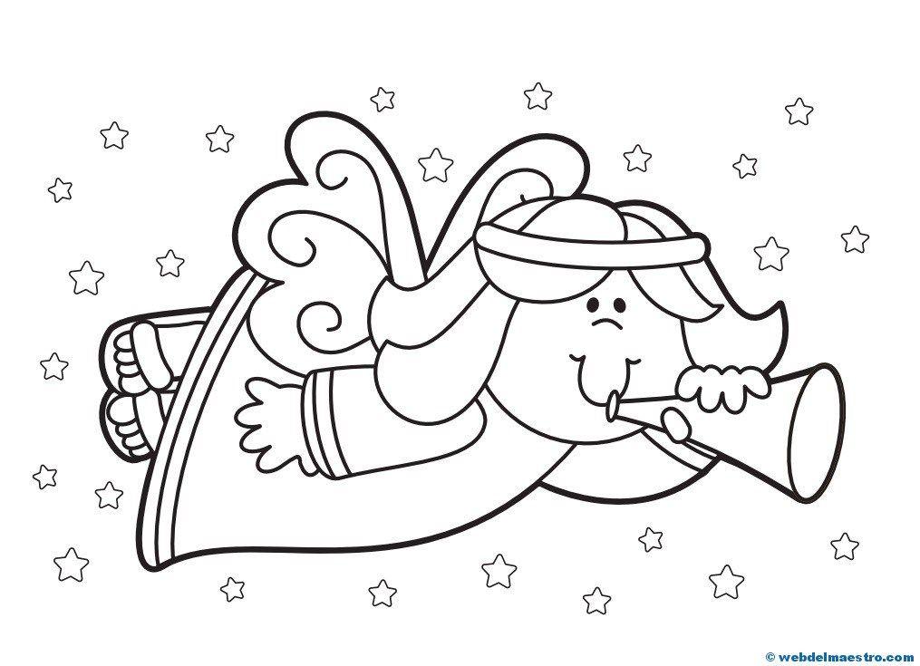 Dibujos de Navidad   Ángeles   Pinterest