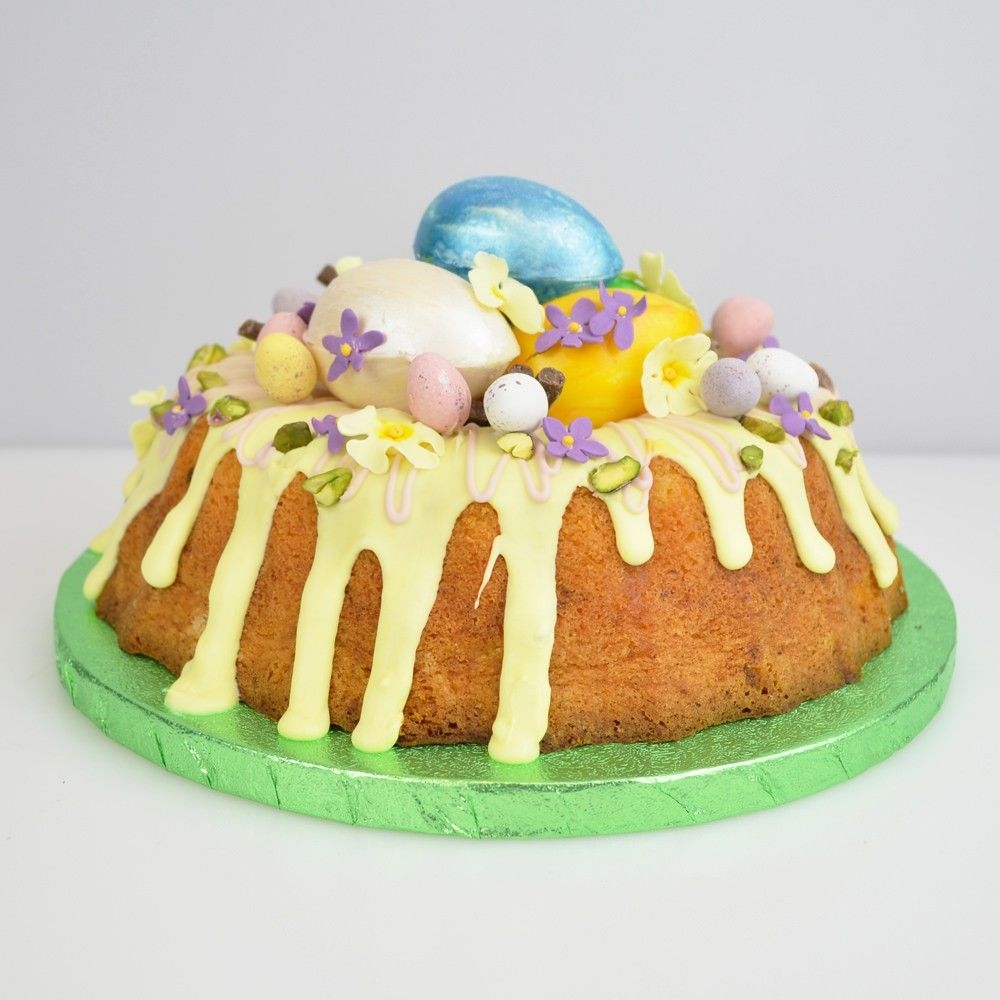 Easter lemon drizzle nest cake recipe how to guide
