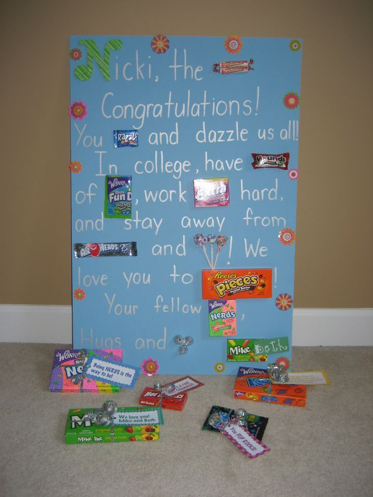 25 diy graduation party ideas craft graduation ideas for Idea diy door gift