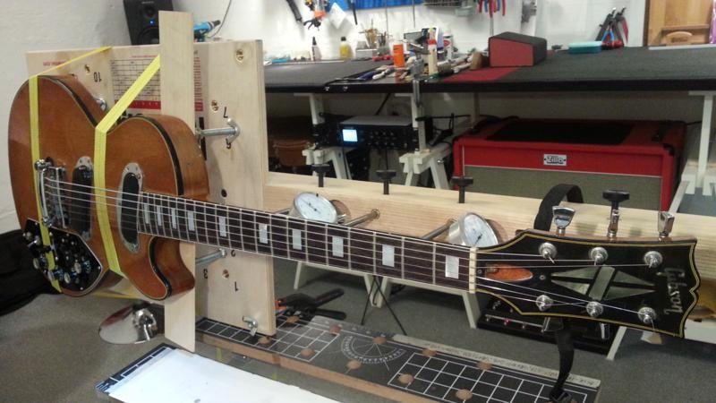 Refretting An Unusual Les Paul Avh Guitar Repair Guitar Building Guitar Tech Guitar