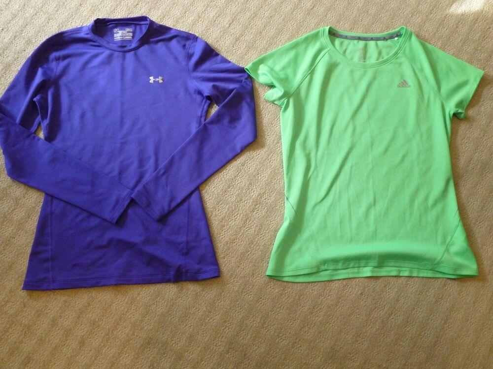 169588d4 Set of Women's UnderArmour and Adidas Workout Shirts (size medium ...