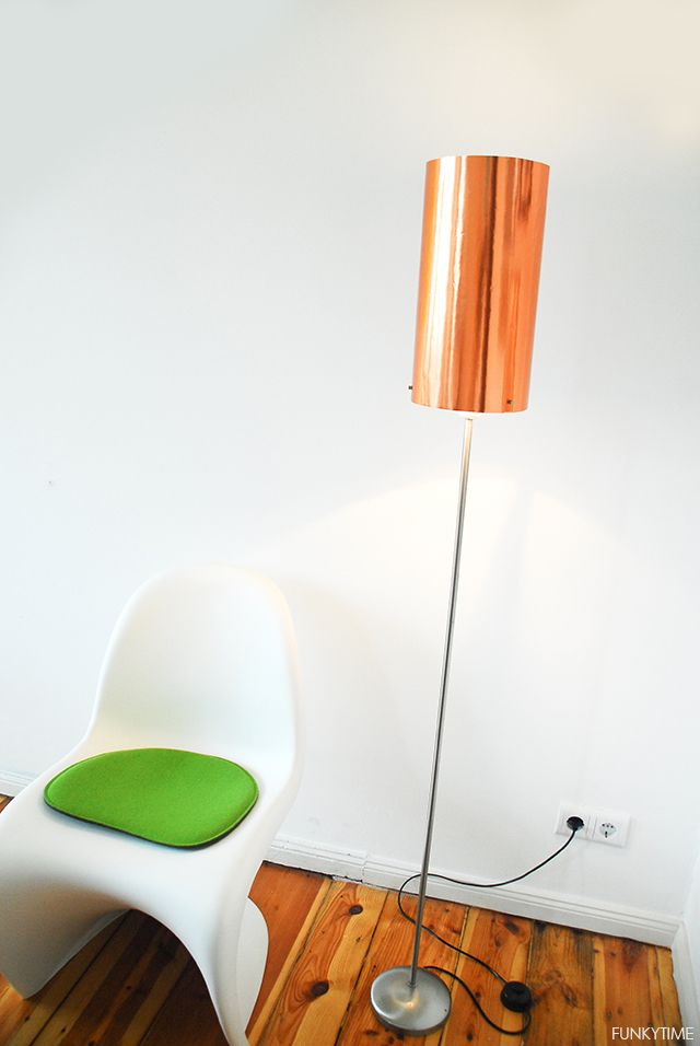 Copper Floor Lamp   DIY home decor