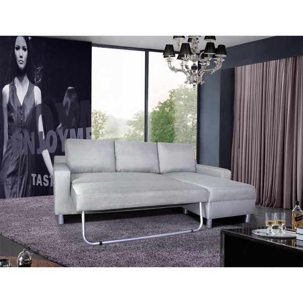 Flexsteel Sofa Kachy Fabric Convertible Sectional Sofa Bed As Is Item
