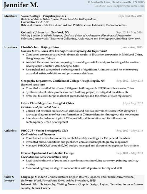Entry Level Resume Sample Work Pinterest Resume format - resume samples for college students