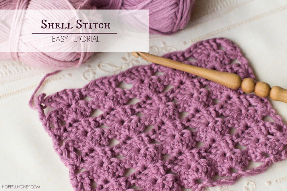 How To Crochet Shell Stitch | Pinterest