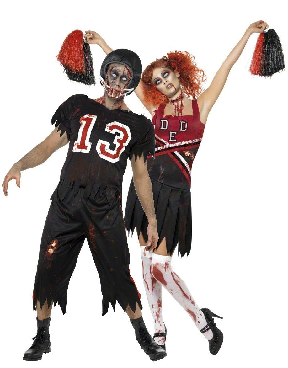 Disfraces De Pareja De Jugador De Fútbol Americano Y Animadora Zombies Ideales Para Halloween Disfraz D Disfraces Parejas Halloween Disfraces Animadora Zombie