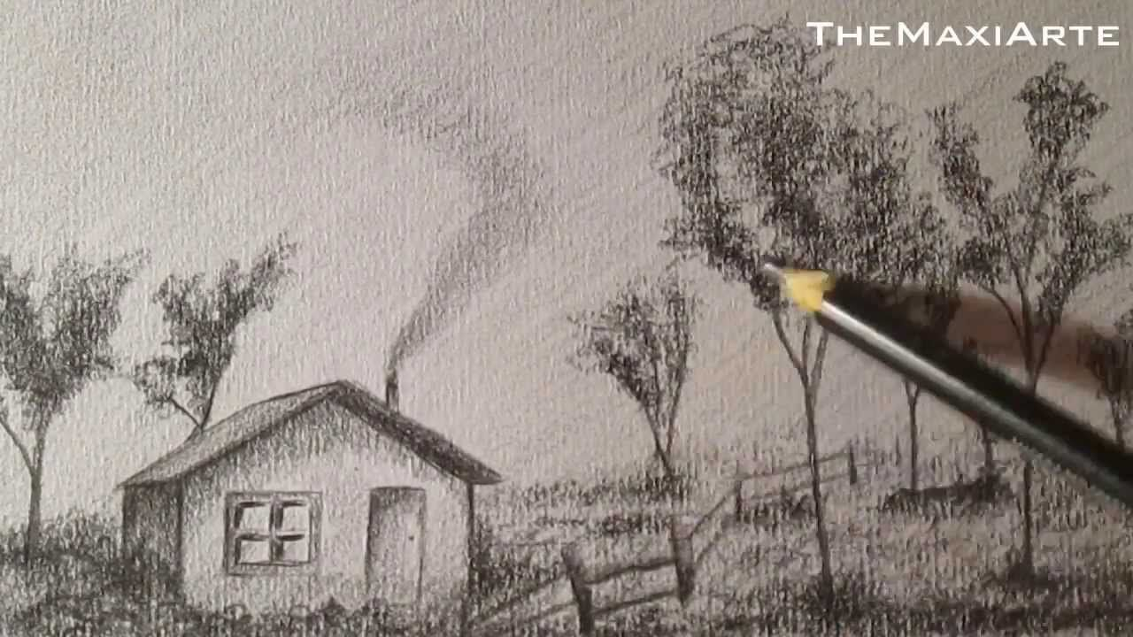 Dibujo A Lapiz Paisaje