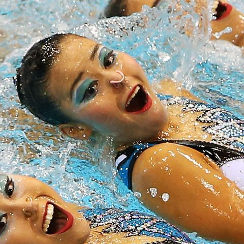 The Best Faces Of Synchronised Swimming Synchronized Swimming Synchronized Swimming Makeup Swimming