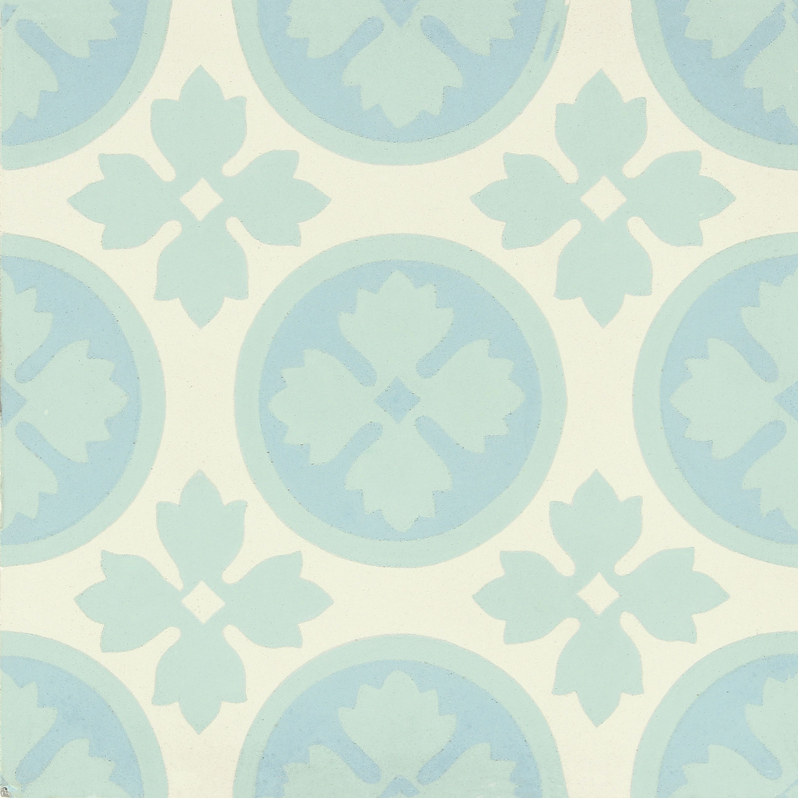 Carreau De Ciment Belle Epoque Decor Anna Gris Bleu Et Blanc L 20