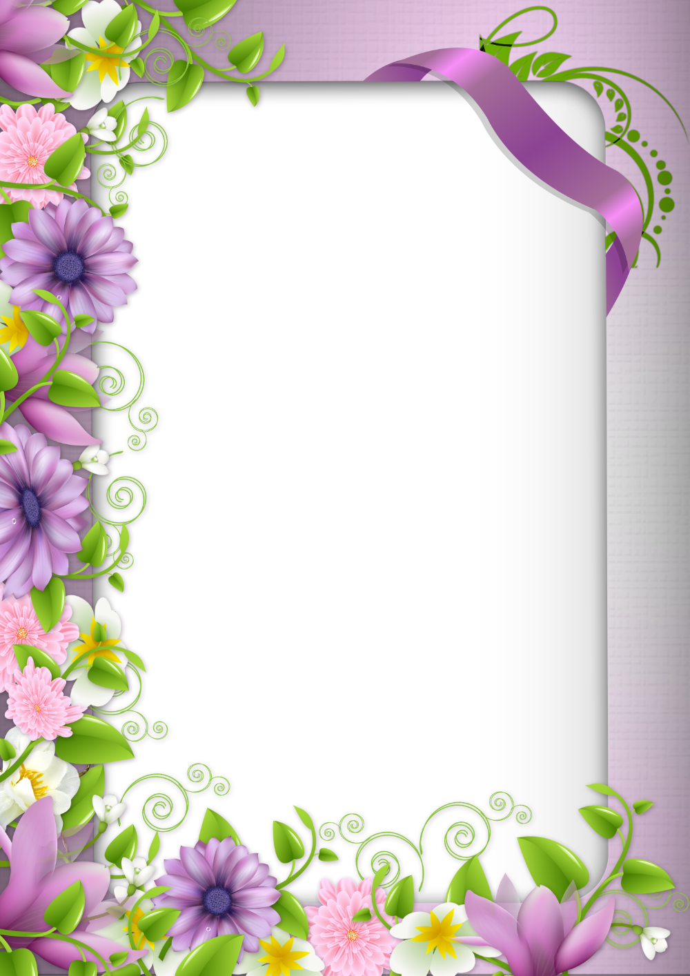 Hranice A Ramecky Okraje Pro Papir Kvetinovy Ramecek 2 Fotoramecek Png 2920x4134 Stahovani Png Flower Frame Flower Border Borders And Frames