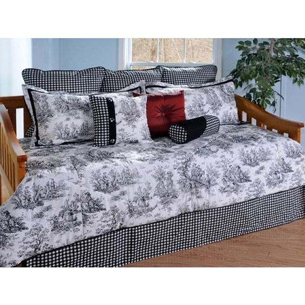 Jamestown Black Toile 4 Piece Daybed Set