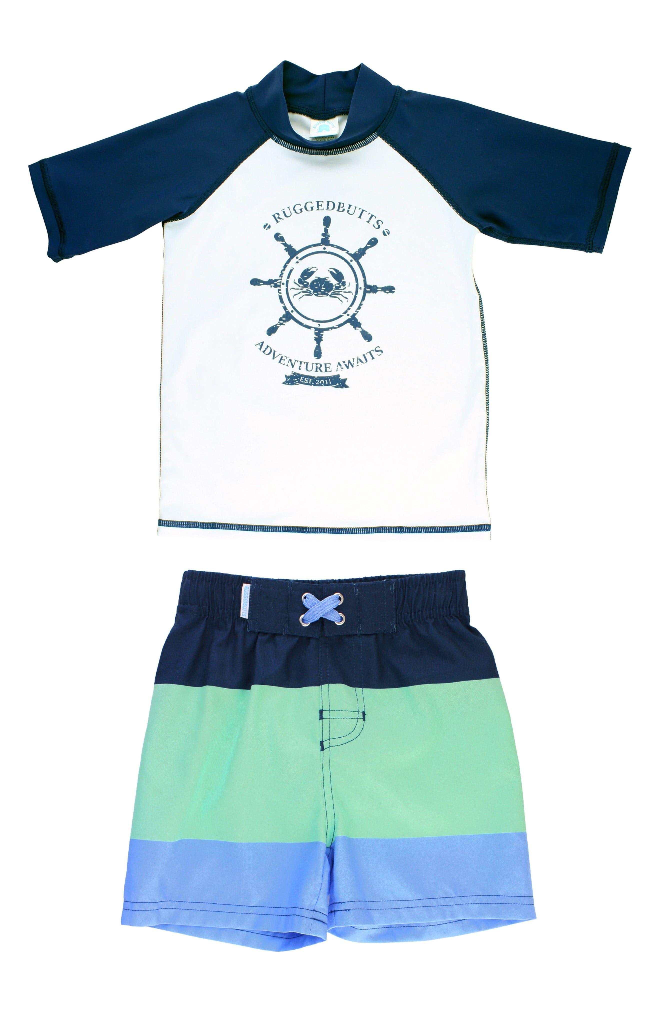 Nautica Boys Boys Short Sleeve Rashguard Rash Guard Shirt