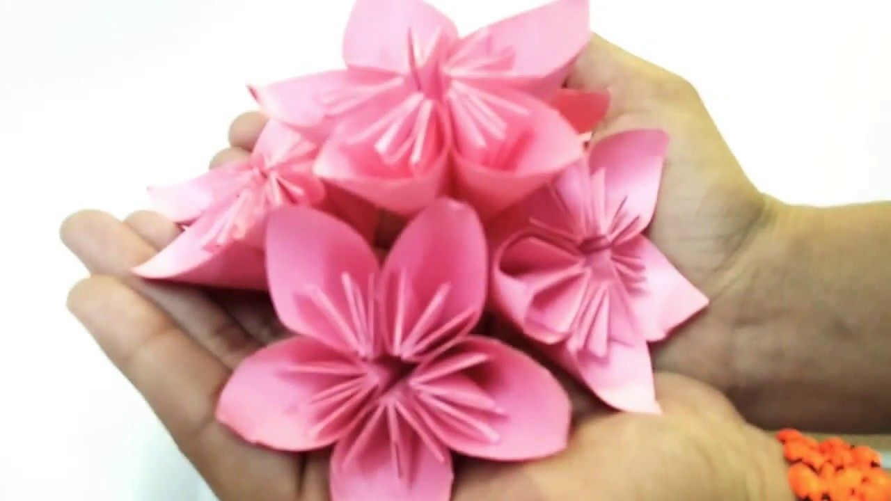 How To Make Easy Paper Flower Kusudama Handmade Flowers