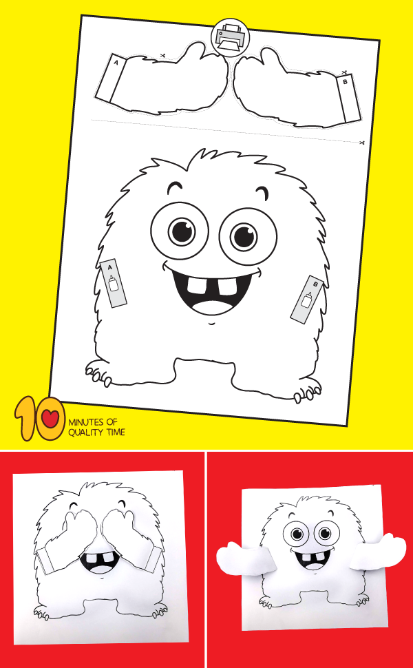 Peekaboo Monster Card #halloweencraftsfortoddlers