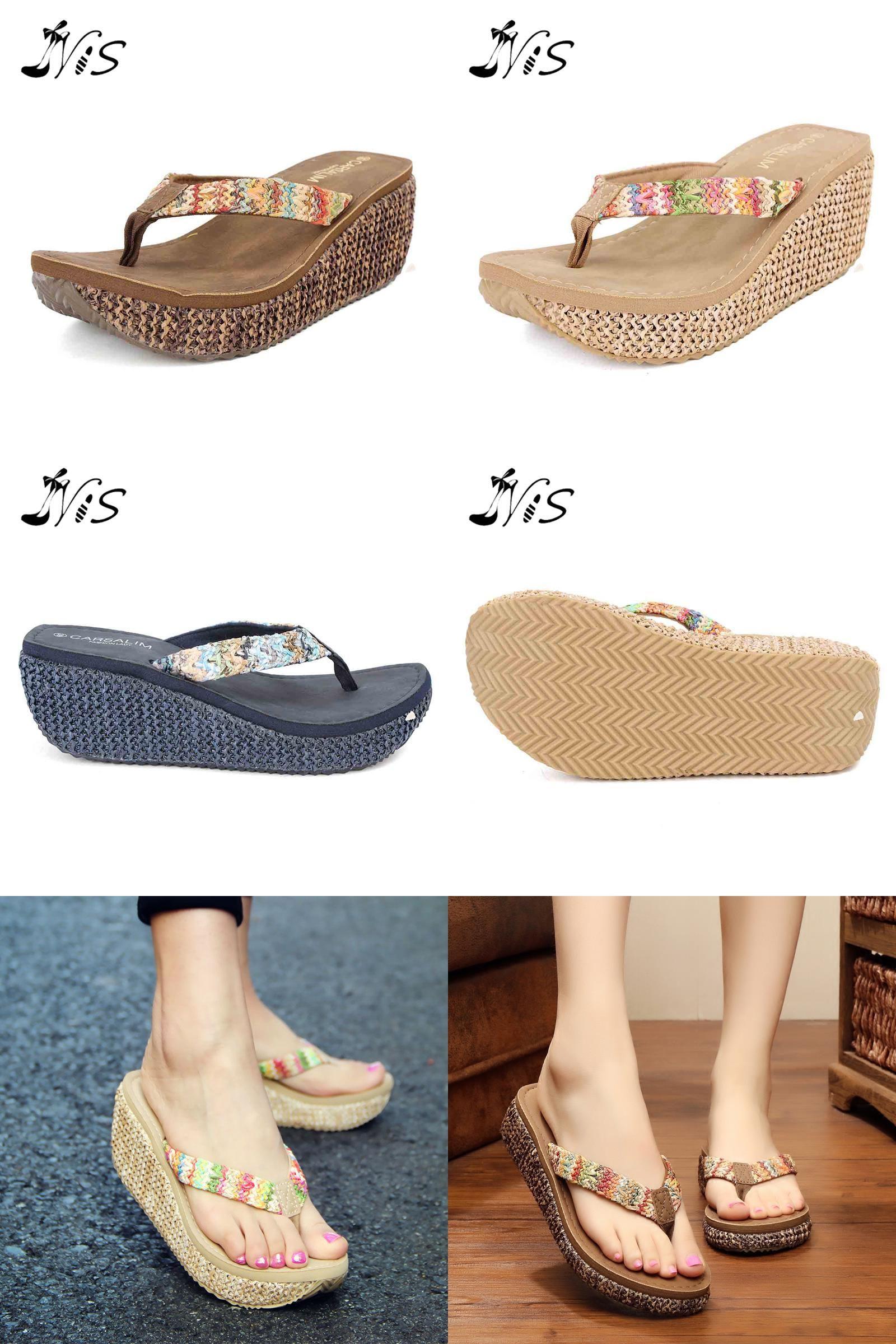 Women Bowknot Summer Sandals Dressy de Mujer Slippers Indoor Outdoor Flip-Flops Comfortable Beach Shoes