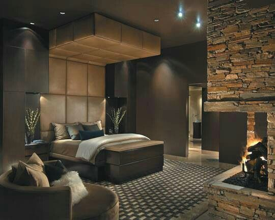 Sexy Bedroom With Fireplace