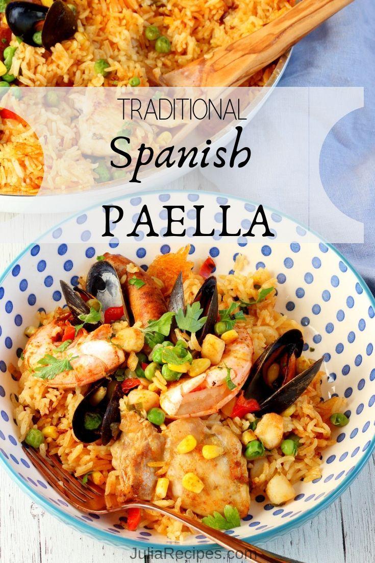 TRADITIONAL SPANISH PAELLA #spanishmeals