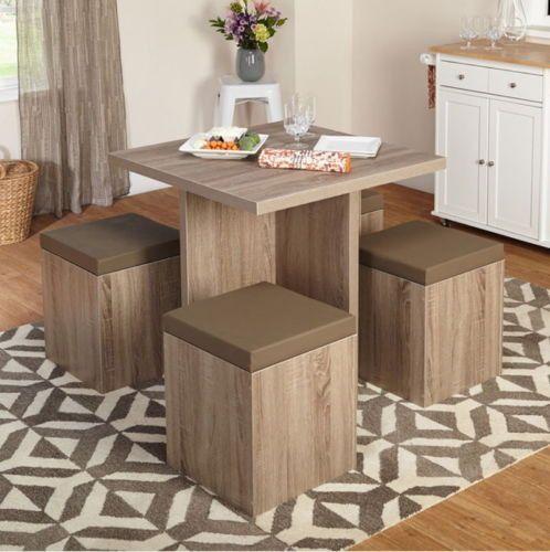 Contemporary 5-Piece Dining Set Stylish Kitchen Furniture Laminated ...