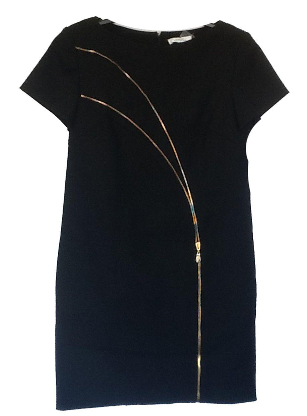 87e9baf9d5ff34 249.99   Versace Collection Womens Pointe Sheath Dress with Gold Zipper  Front Black 42 ❤ #versace #collection #womens #pointe #sheath #zipper #zara  #ASOS ...
