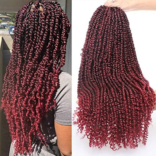 Xtrend 22 inch Pre-twisted Passion Twist Hair Water Wave Crochet Braids Hair Pre-twisted Passion twist crochet hair pre looped Bohemian Hair Extensions 15 Strands/Pack(TBUG#)