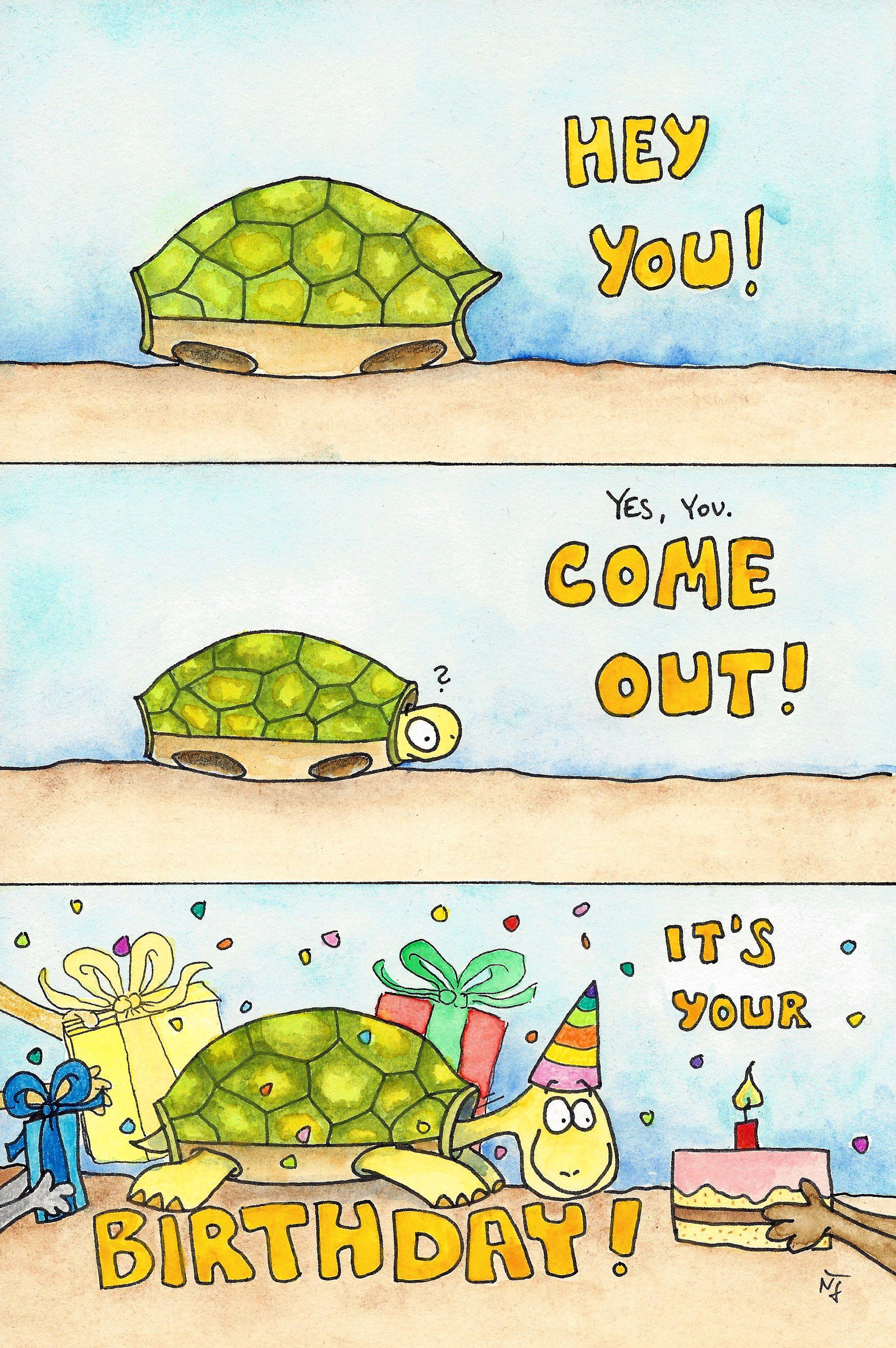 Tortoise Happy Birthday Postcard By Nicole Janes Zazzle Com
