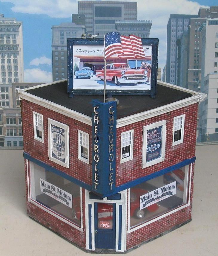 O Scale Model Train Buildings