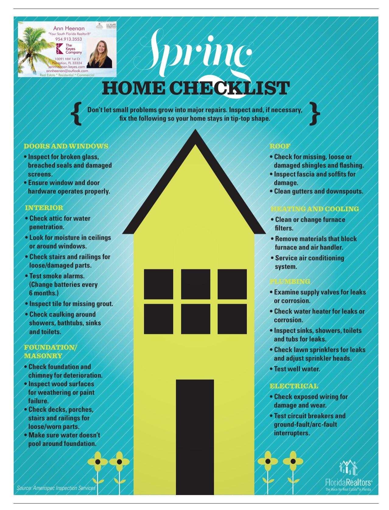 Spring Home Checklist | real estate in 2019 | Florida home