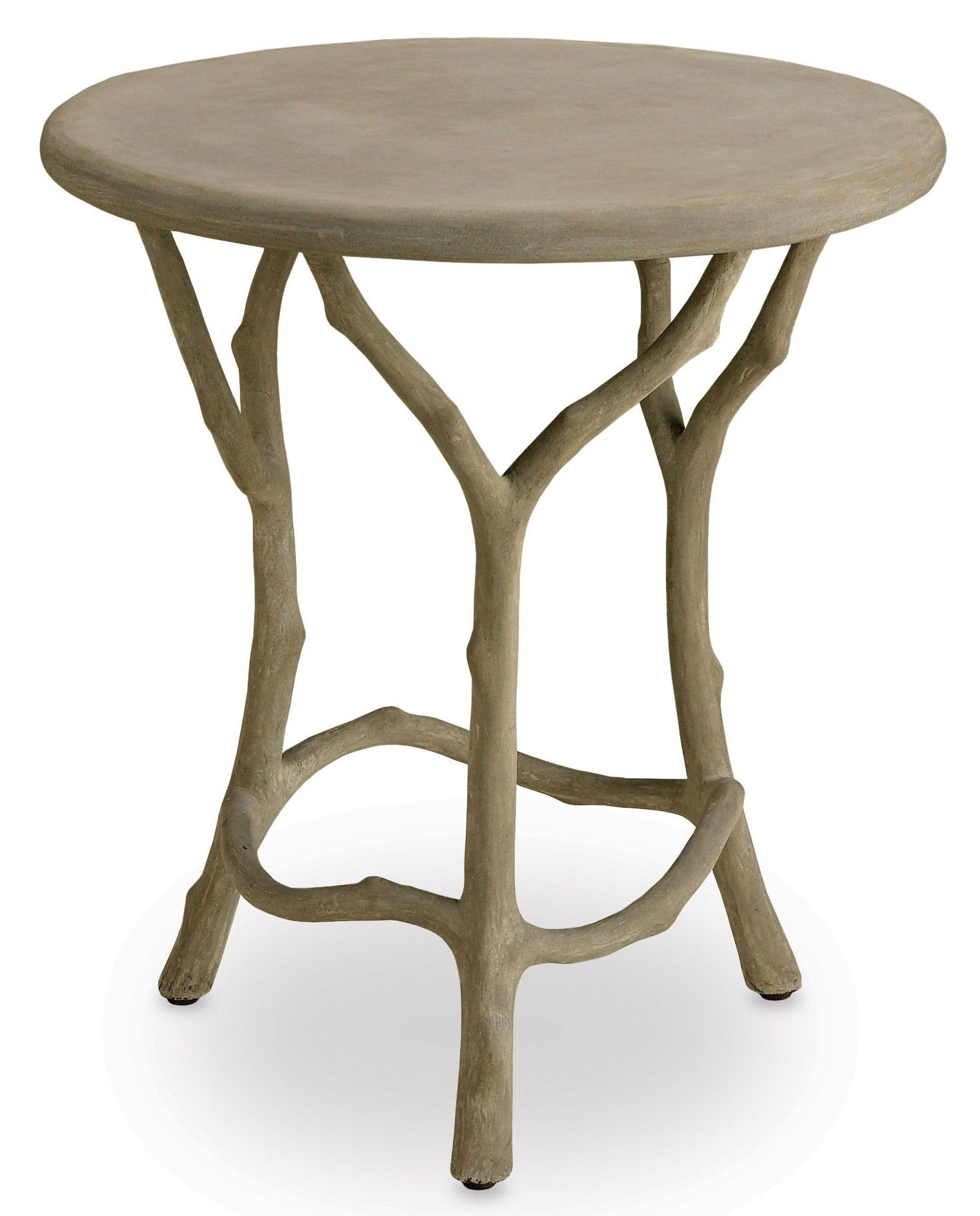 Currey & pany Faux Bois Side Table