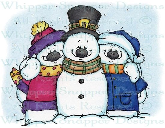 Chill'n with Friends - Snowmen Images - Snowmen - Rubber Stamps - Shop