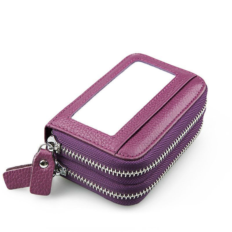 Leather womens card holder wallet purses coin purse