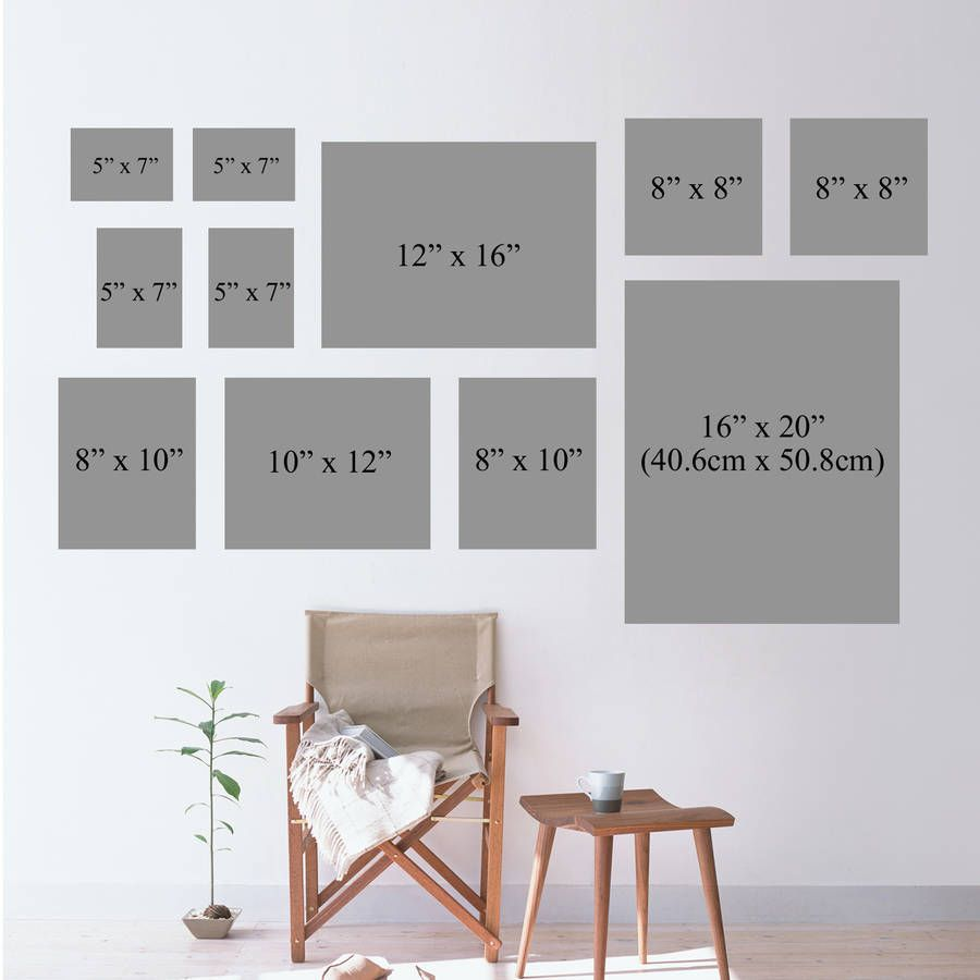 Photo Frame Sizes For Wall Frames Pictures Design Gallery Frame Gallery Wall Frames Gallery Wall Layout