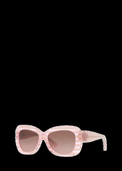 ec3fa8edbf4 Versace Pop Chic Striped Pink Sunglasses for Women