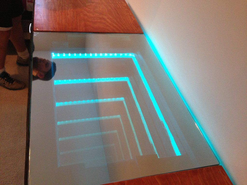 infinity mirror desk | mirror desk, infinity mirror and desks