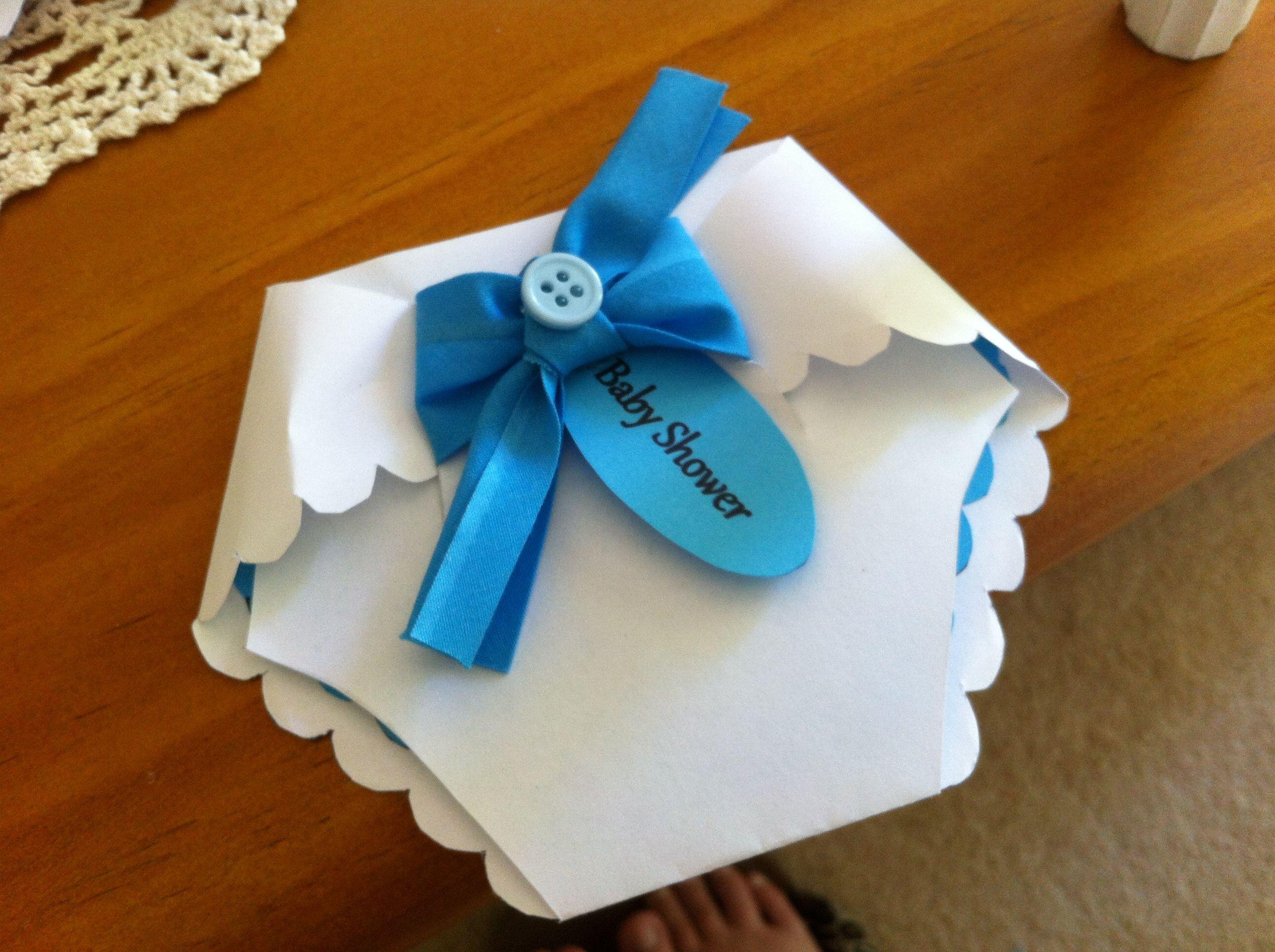 nappy invitation #art #craft #DIY #babyshower #baby #invitation ...