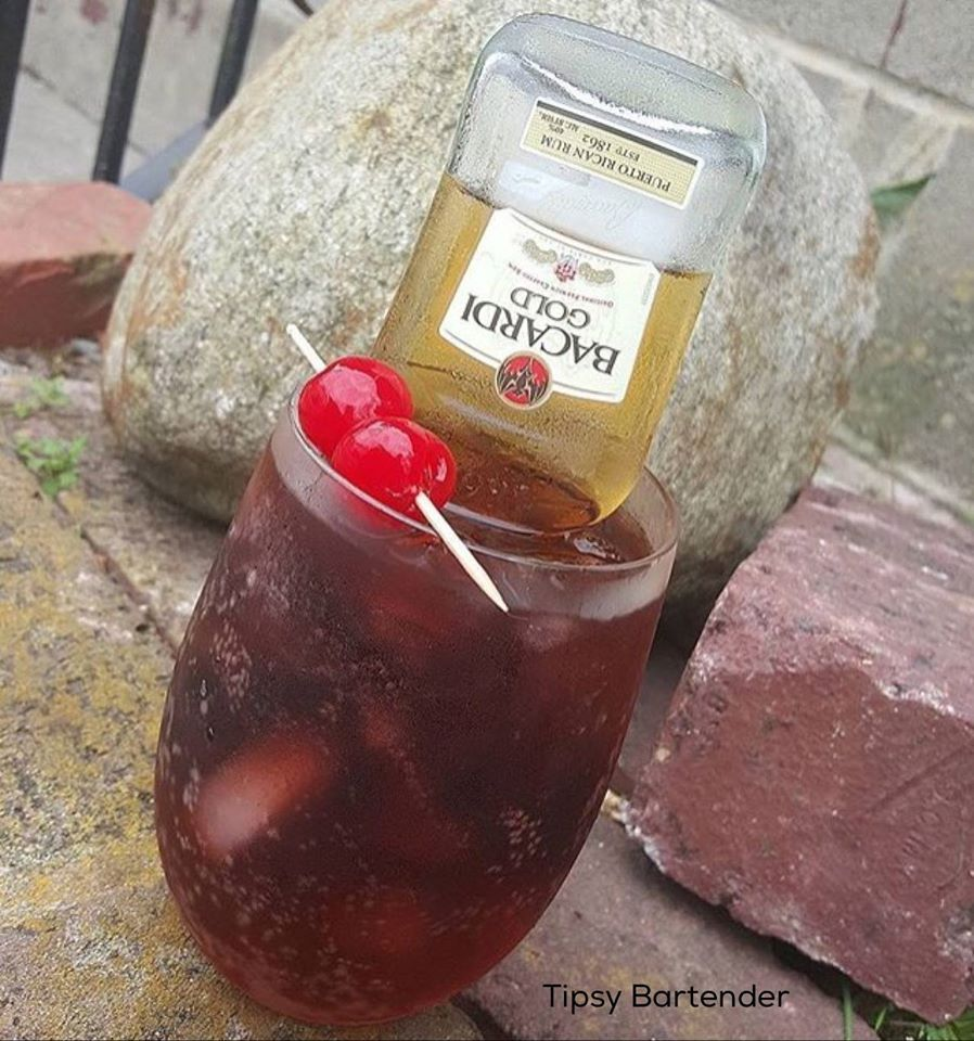 Rum and Coke, Loko Edition - For more delicious recipes and drinks, visit us here: www.tipsybartender.com
