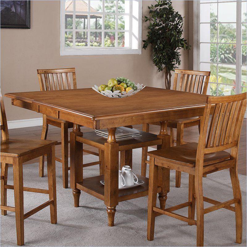 Steve Silver Company Candice Counter Height W/Butterfly Leaf Oak Dining  Table #SteveSilverCompany