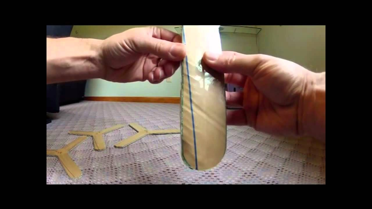How To Make a Cardboard Paper Boomerang that returns to