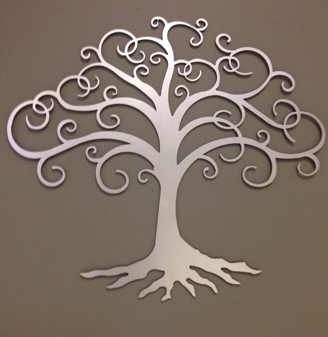 Tree Of Life Industrial Metal Wall Art Heat Tinted